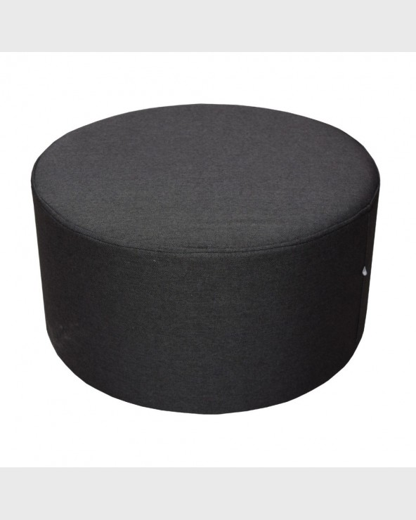 Mobili Rebecca® Footstool Pouffe beanbag Rounded Black Design Modern Home decor Living
