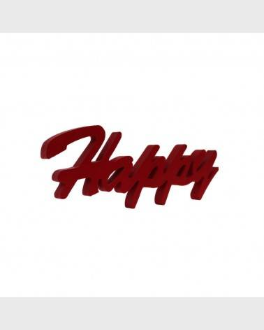 """Happy"" red writing to decorate a wall or a piece of furniture - RE6345 - Mobili Rebecca®"