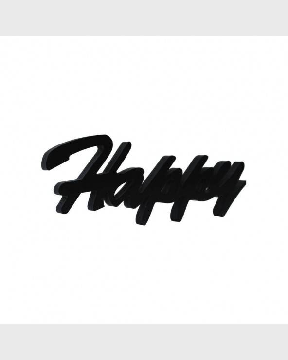 "Black writing ""Happy"" centerpiece or to hang - RE6321 - Mobili Rebecca®"