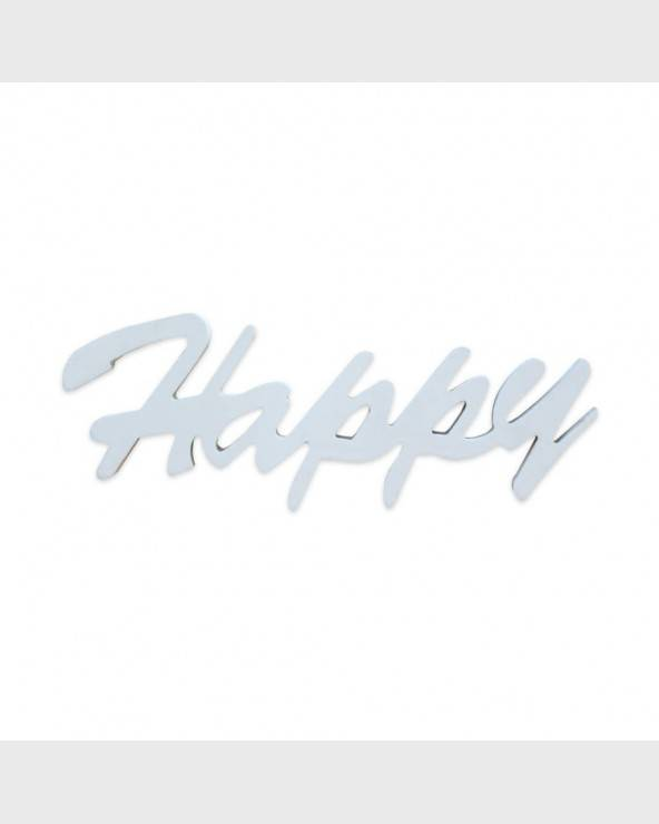 "Plato decorativo blanco ""Happy"" para colgar - RE6320 - Mobili Rebecca®"
