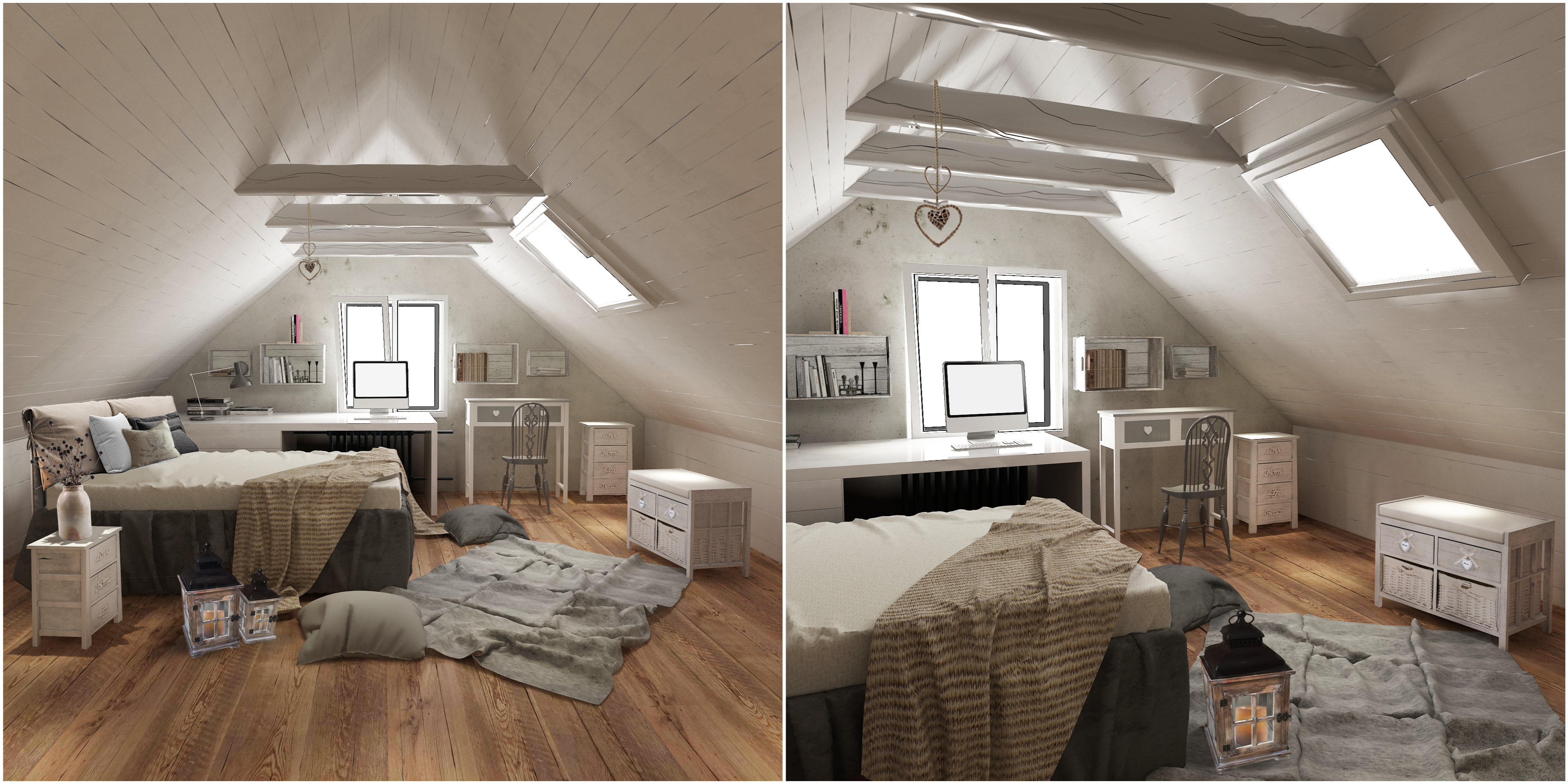 5 idee per arredare la camera da letto in stile shabby chic for Camera arredata