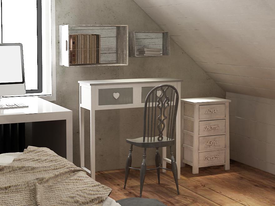 5 idee per arredare la camera da letto in stile shabby chic - Consolle camera da letto ...