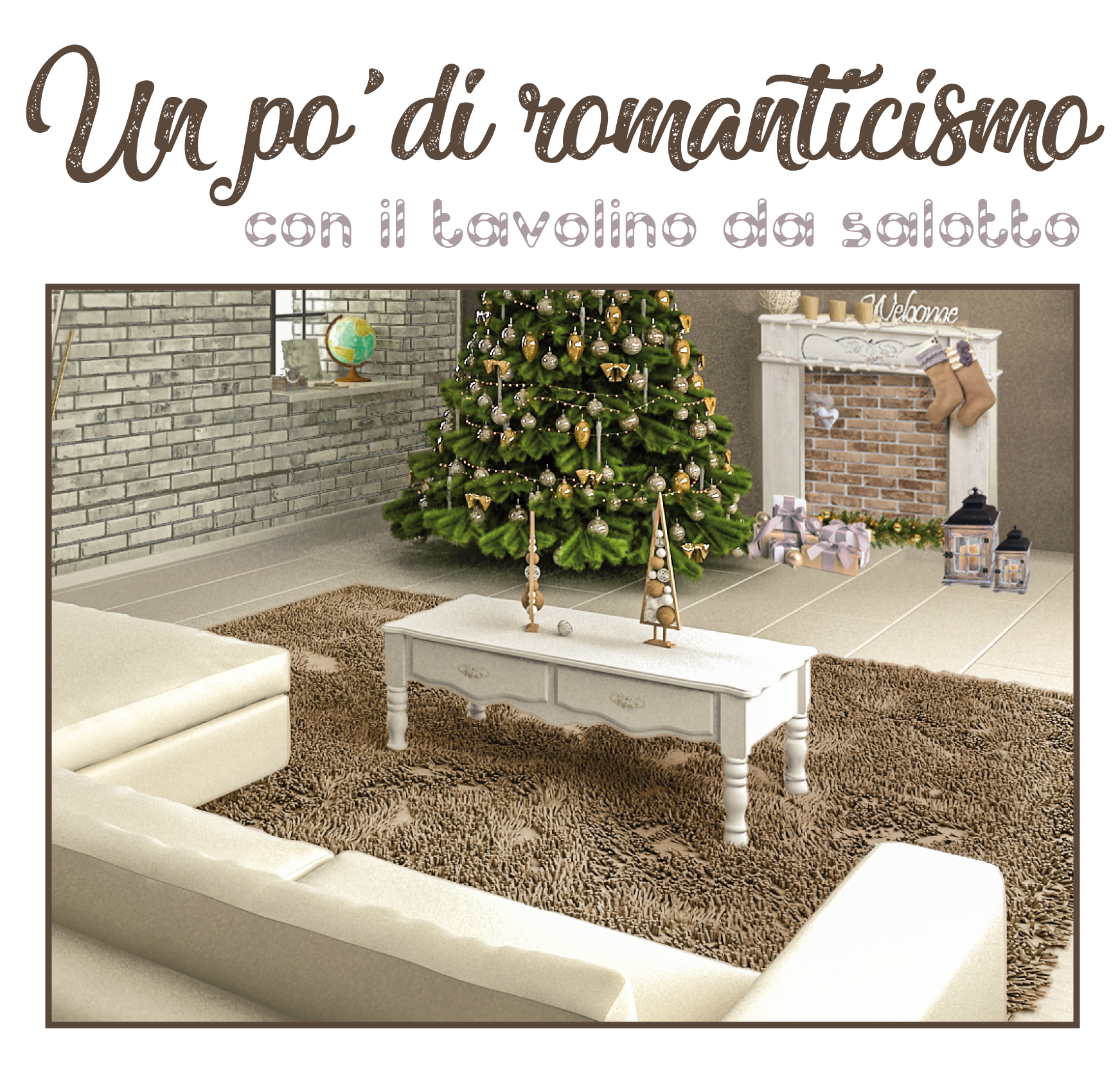Natale shabby chic decorare casa per natale in bianco tortora for Decorare stanza shabby chic