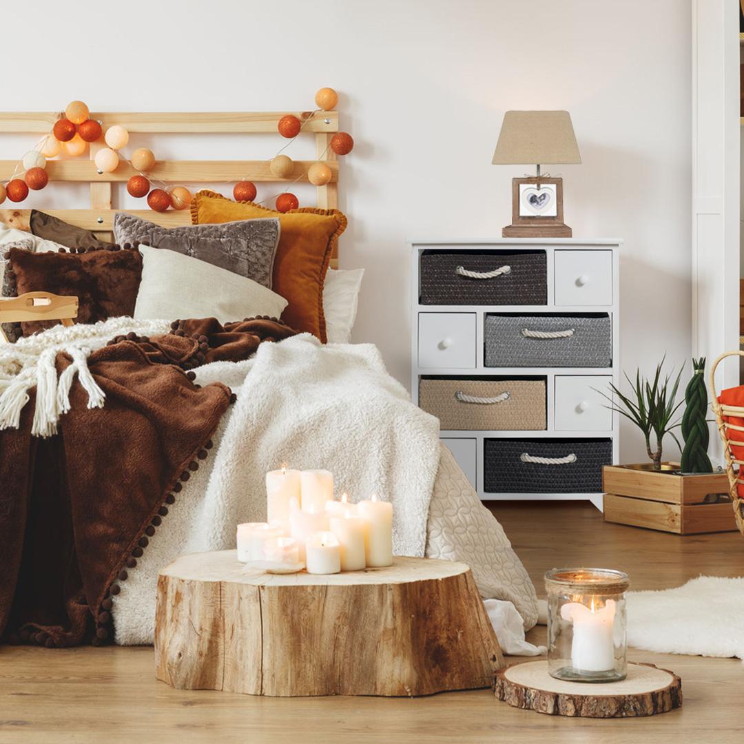 Abat-jour da comodino per camera da letto romantica
