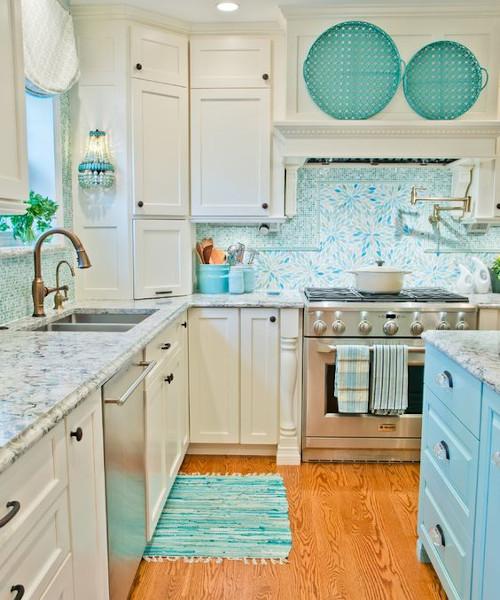 I colori per la cucina della casa al mare