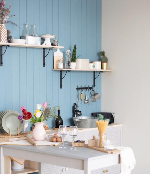 Cucina provenzale azzurra
