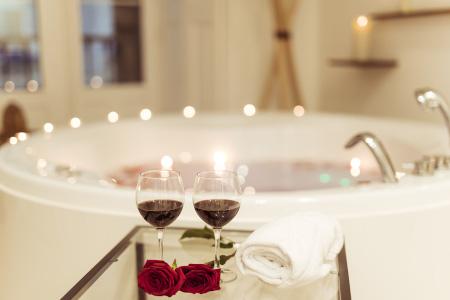 Decorare il bagno a San Valentino