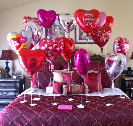 Decorare casa con i palloncini a San Valentino