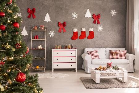 Decorazioni da parete per un Natale shabby chic