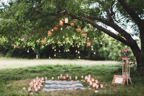 Lanterne e illuminazione per giardino in stile boho chic