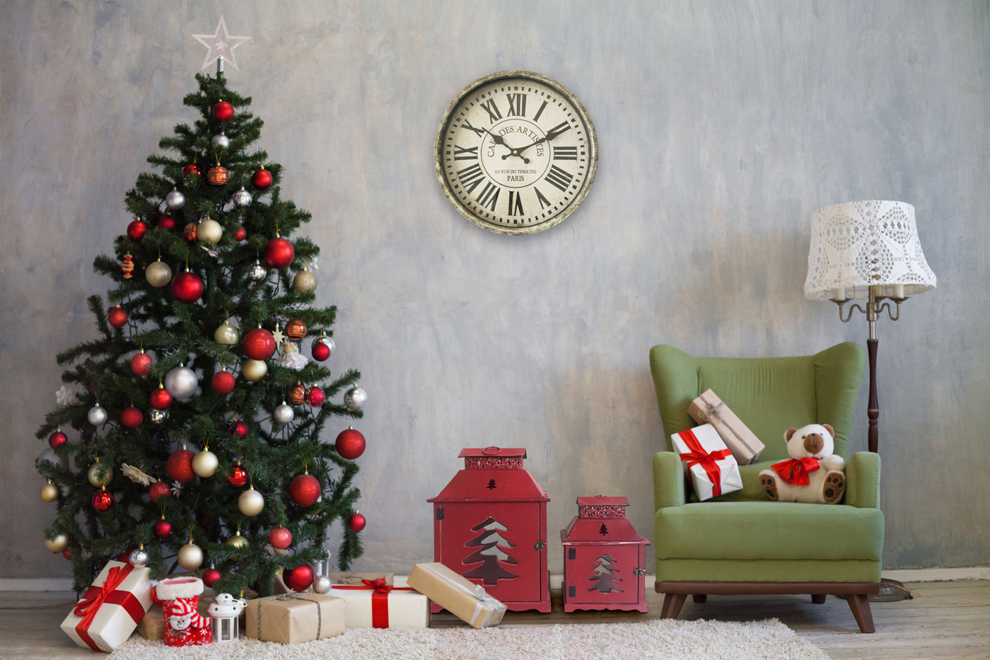 Lanterne decorative rosse per Natale
