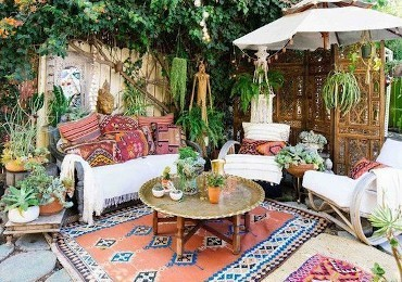 The boho chic garden: 5 ideas to make it truly unique!